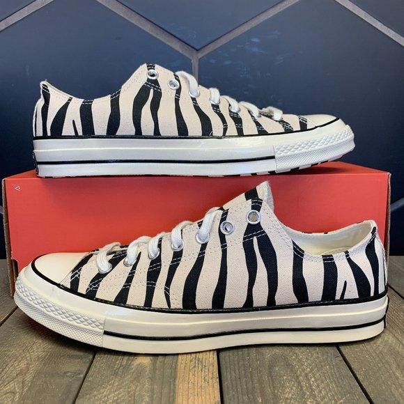 Converse Chuck 70 OX Zebra White Black Size 10.5